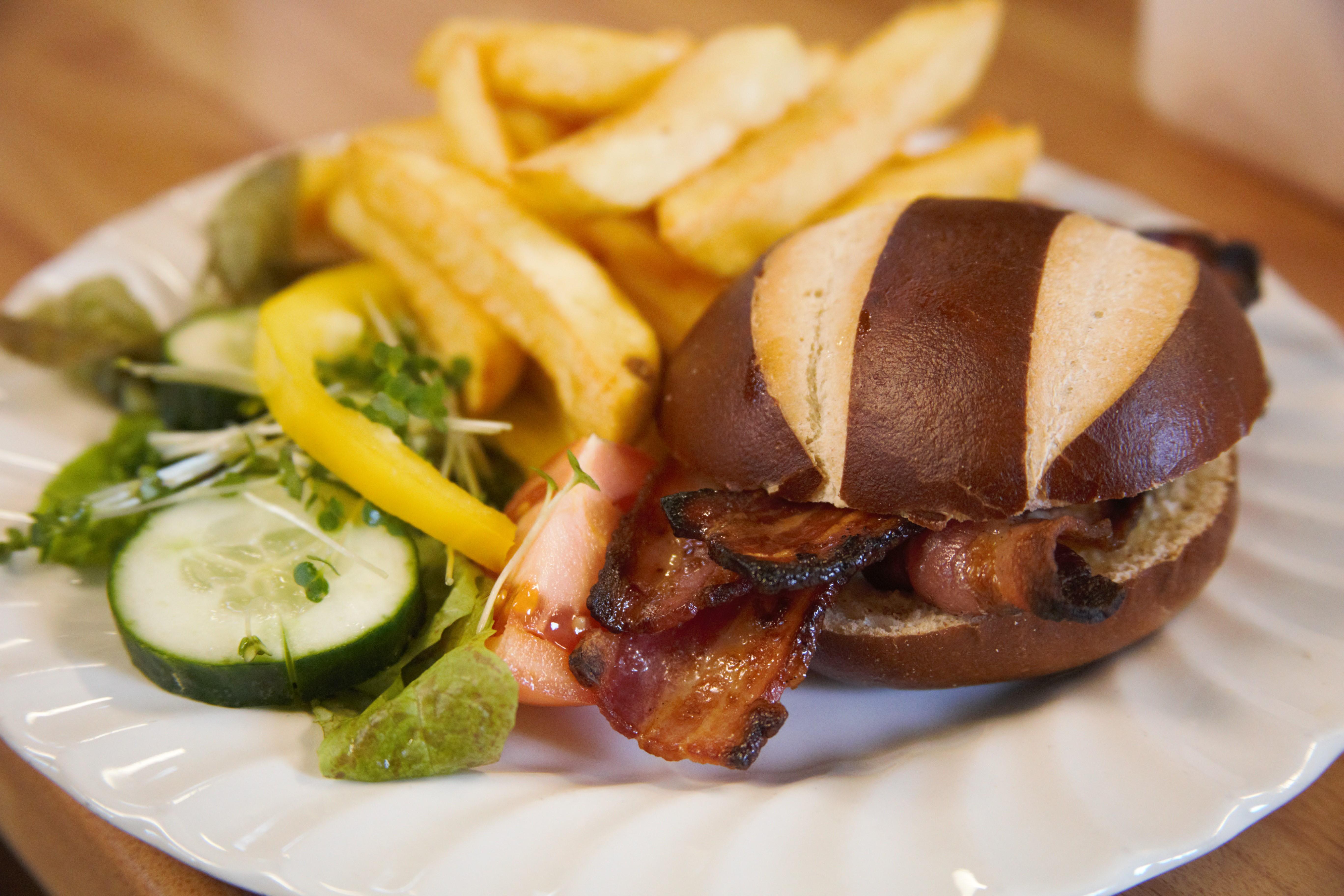 Great tasting bacon baps