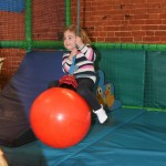 Children in the soft play area