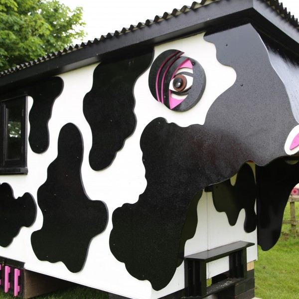 Enjoy a glamping break - cow style