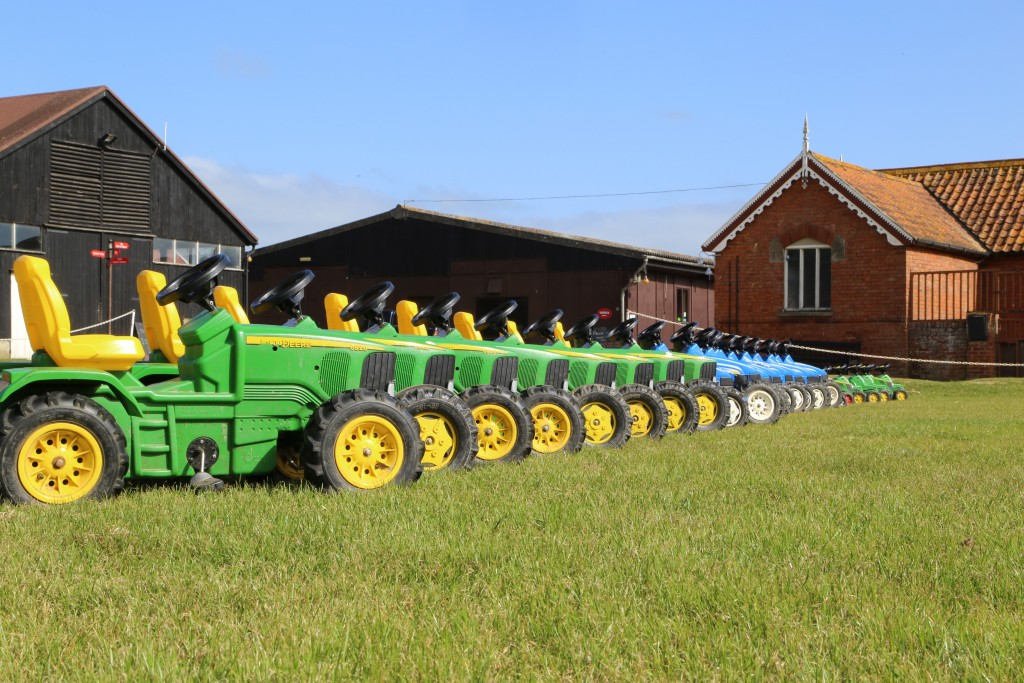 Toy tractors at Easton Farm Park